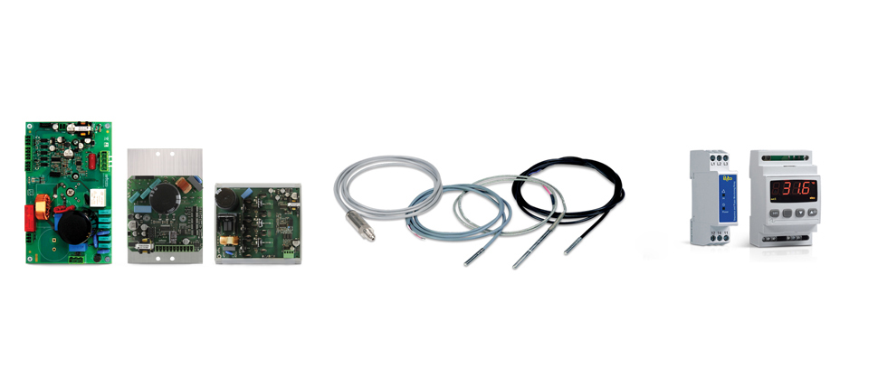Inverters, probes, transducers, protection and alarm devices