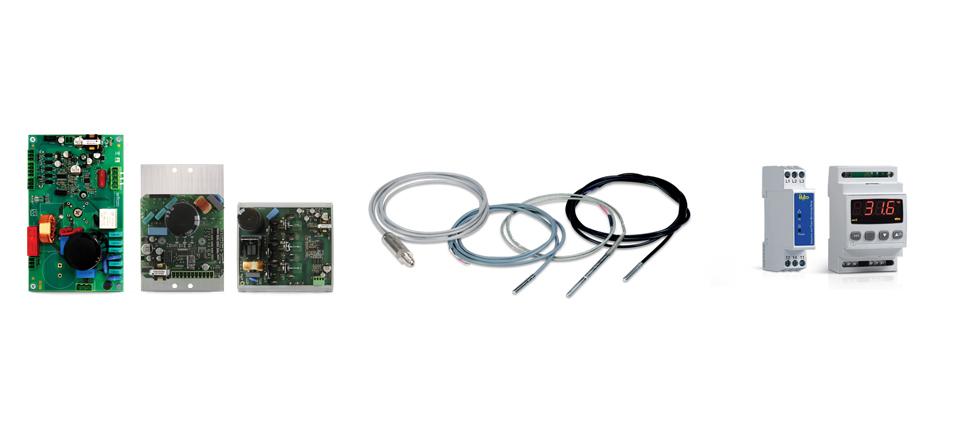 Wechselrichter, Fühler, Druckgeber, Schutzeinrichtungen und Alarm-Vorrichtungen